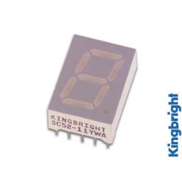 1-digit display 13mm gemeenschappelijke anode hyperrood ***