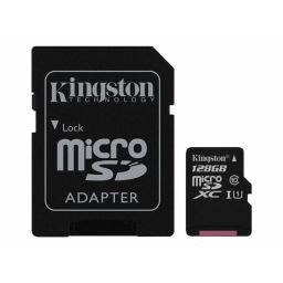 Kingston Micro SDXC UHS geheugenkaart 128GB klasse 10