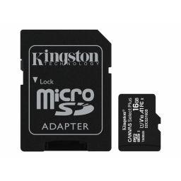 Kingston Micro SDHC geheugenkaart 16GB klasse 10