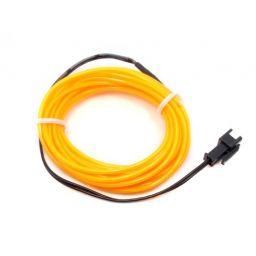 High brightness, long-life EL wire - lengte: 3m - geel