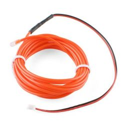 High brightness, long-life EL wire - lengte: 3m - rood