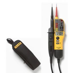 Promo T- Voltage/Continuity Tester met LCD en schakelbare belasting - gratis C150 tas