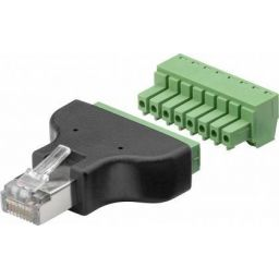 Terminal Block 8-pin > RJ45 male (8P8C)