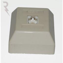 ISDN aansluitdoos - opbouw enkel met RJ45 4C/8P