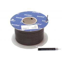 TV coaxkabel zwart 75 ohm soepel 6,5mm diameter verliesarm 100m