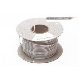 TV coaxkabel wit 75 ohm soepel 6,5mm diameter verliesarm 100m