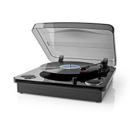 Platenspeler - 18 W - 13GTR12 - Bluetooth ® - USB-Conversie - Cover - Zwart