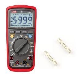 True RMS digitale multimeter met temperatuurmeting + fuses