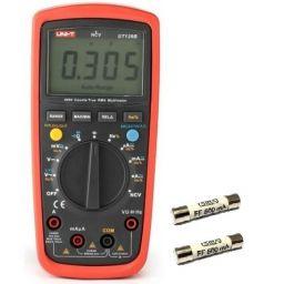 True RMS digitale multimeter auto range + 2 fuses.