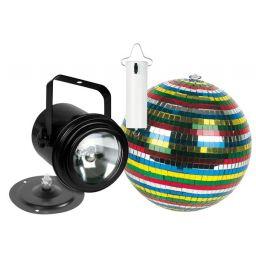***Disco lichtkit - PAR36 - pinspot spigelbol 15cm en DC motor