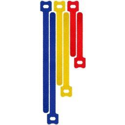Velcro kabelsrip 3 kleuren, 6 stuks