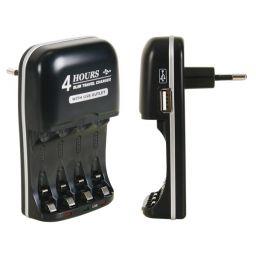 Snellader voor NIMH batterijen met USB uitgang