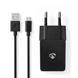 Wandoplader USB 2,1A met losse micro-USB kabel
