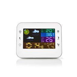 Weerstation met draadloze sensor - 12GF9 - Wit - Met weersvoorspelling