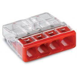 WAGO Lasdop 4-polig 0,5 … 2,5mm² 450V Rood