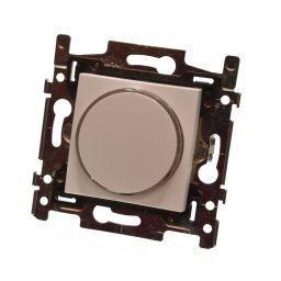 Drukknop 6A met amberkleurige LED. Kleur: wit