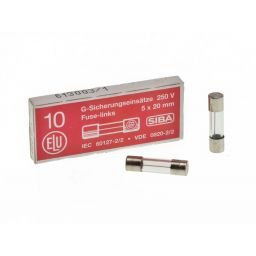 Zekering 5x20mm - snel - 160mA - 230V 10pcs