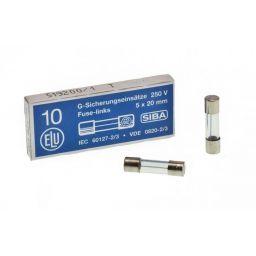 Zekering 5x20mm - traag - 250mA - 230V  10st.