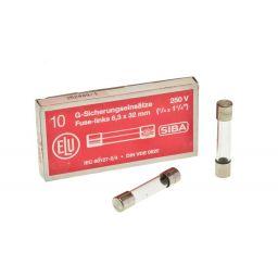 Zekering 6,3x32mm - snel - 6,3A - 230V 10pcs