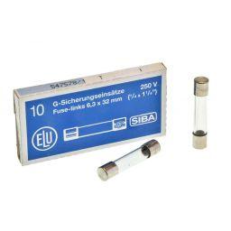 Zekering 6,3x32mm - traag - 3,15A - 230V 10pcs