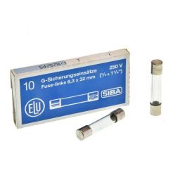 Zekering 63mA - 250V 10st. 6,3x32mm Traag ***