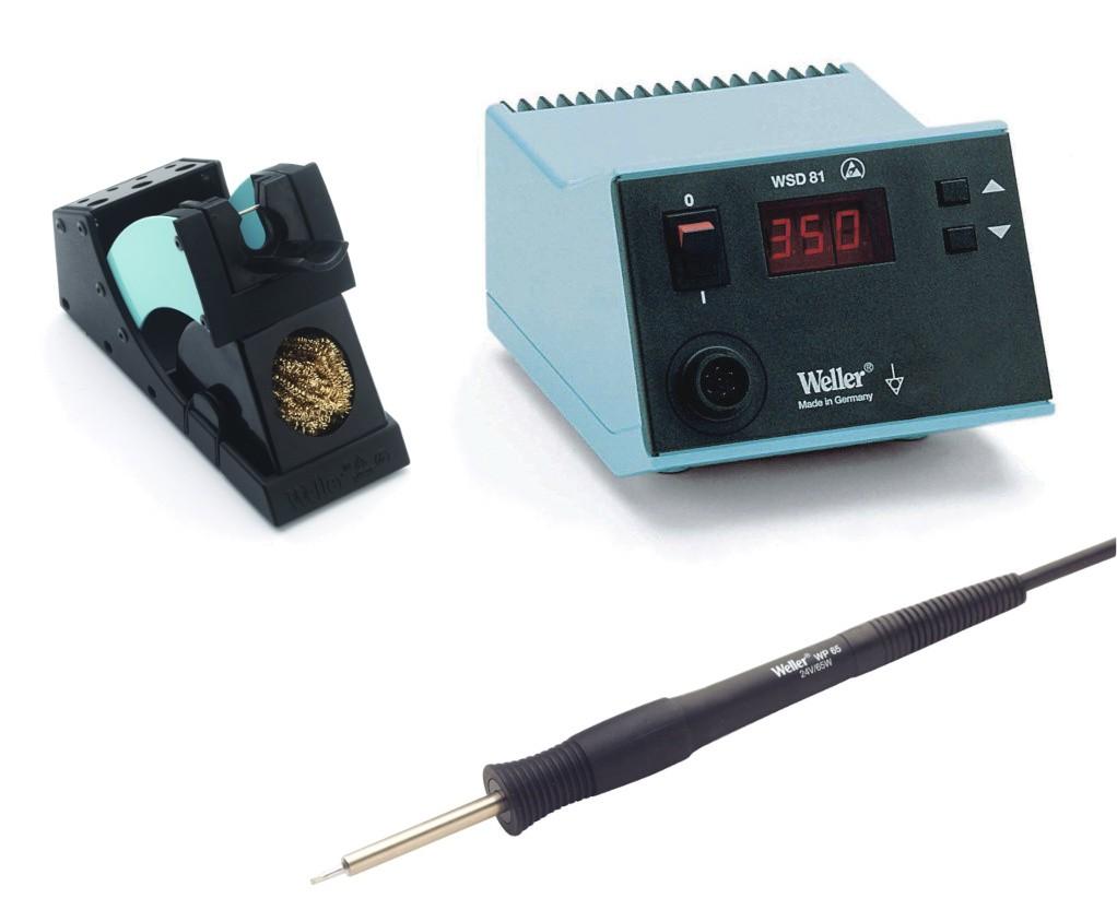 2ce2b470550 Soldeerstation met temperatuurregeling: Soldeerbout die wordt aangesloten  aan een transfo waarop men de temperatuur van de punt kan regelen.